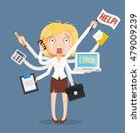 busy businesswomen character.... | Shutterstock .eps vector #479009239
