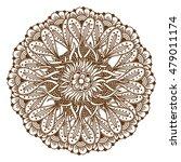 circular floral ornament mehndi ... | Shutterstock .eps vector #479011174