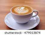 coffee in white cup on wooden... | Shutterstock . vector #479013874