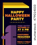 halloween invitation brochure ... | Shutterstock .eps vector #479014033