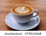 coffee in white cup on wooden... | Shutterstock . vector #479014468