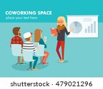people in co working space | Shutterstock .eps vector #479021296