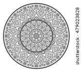 flower mandala. vintage... | Shutterstock .eps vector #479023828