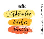 vector illustration. lettering. ... | Shutterstock .eps vector #479026729