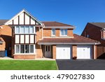 modern english house with... | Shutterstock . vector #479027830