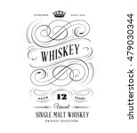 whiskey label logo | Shutterstock .eps vector #479030344