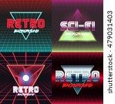 set of vhs design covers. retro ... | Shutterstock .eps vector #479031403