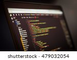 html and css code developing... | Shutterstock . vector #479032054