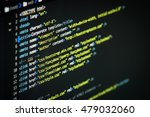 html and css code developing... | Shutterstock . vector #479032060