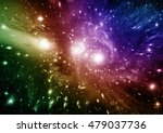 stars  dust and gas nebula in a ... | Shutterstock . vector #479037736