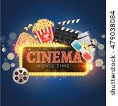 cinema movie vector poster... | Shutterstock .eps vector #479038084
