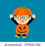 vector illustration   halloween ... | Shutterstock .eps vector #479041780