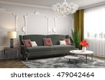 interior with sofa. 3d... | Shutterstock . vector #479042464