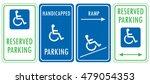 handicapped reserved parking...   Shutterstock .eps vector #479054353