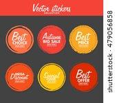 vector set of vintage colorful... | Shutterstock .eps vector #479056858