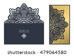 vector wedding card laser cut...   Shutterstock .eps vector #479064580