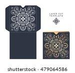 vector wedding card laser cut... | Shutterstock .eps vector #479064586