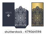 vector wedding card laser cut... | Shutterstock .eps vector #479064598