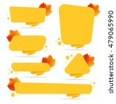 set of vector autumn discount... | Shutterstock .eps vector #479065990