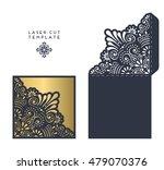 vector wedding card laser cut... | Shutterstock .eps vector #479070376