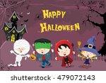 happy halloween card | Shutterstock .eps vector #479072143