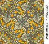 tribal vector mandala. vintage... | Shutterstock .eps vector #479073664