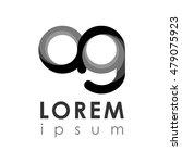 letter logo. black gradation | Shutterstock .eps vector #479075923