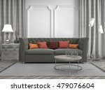 interior with sofa. 3d... | Shutterstock . vector #479076604