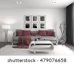 interior with sofa. 3d... | Shutterstock . vector #479076658