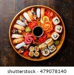 Sushi Set Nigiri  Rolls And...