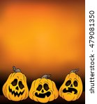 halloween pumpkins theme image... | Shutterstock .eps vector #479081350