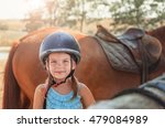 portrait of little girl and... | Shutterstock . vector #479084989