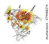 flowers  yellow chrysanthemums  ... | Shutterstock . vector #479088274