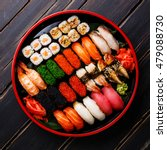 sushi set gunkan  nigiri and... | Shutterstock . vector #479088730