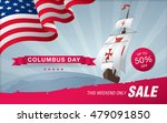 columbus day. sale template... | Shutterstock .eps vector #479091850