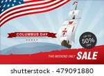 columbus day. sale template... | Shutterstock .eps vector #479091880