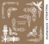 ornamental borders | Shutterstock .eps vector #479097994