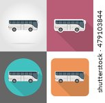 big tour bus flat icons vector... | Shutterstock .eps vector #479103844