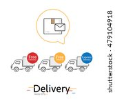 mail and delivery car vector... | Shutterstock .eps vector #479104918