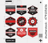 set of 9 different badges...   Shutterstock .eps vector #479105656