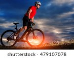 mountain bicycle rider on the... | Shutterstock . vector #479107078