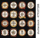 retro vintage golden labels...   Shutterstock .eps vector #479107288