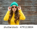 beautiful brunette woman in... | Shutterstock . vector #479113804