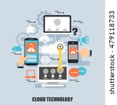 flat concept of cloud data... | Shutterstock .eps vector #479118733