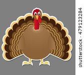 turkey bird isolated on grey...   Shutterstock .eps vector #479123284