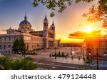 Sunset View Of Madrid Cathedra...