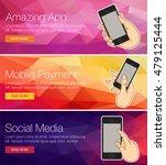 illustration smartphone for... | Shutterstock .eps vector #479125444