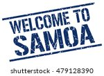 welcome to. samoa. stamp | Shutterstock .eps vector #479128390