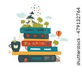 Fairytale Concept With Book An...