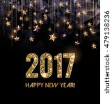 happy new year 2017 card  gold...   Shutterstock .eps vector #479138236
